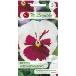 Bratek Szwajcarski wielkokwiatowy - White/Pink eye 0,3G